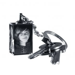 Schlüsselanhänger Glas mit Fotogravur