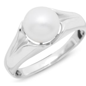 Ring Silber mit Perle 141