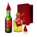 Weihnachts-Geschenkpaket mit Likör und Bier