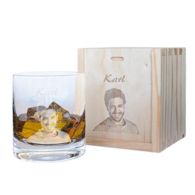 Whiskyglas mit Fotogravur - 8679
