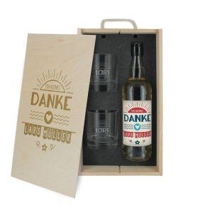 3-teilige Whisky-Box Danke