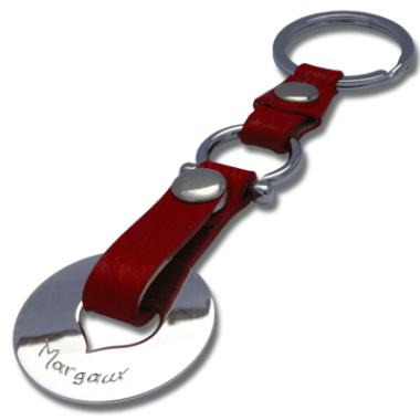 Schlüsselanhänger Leder Herz
