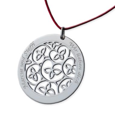 Anhänger Kreis mit Gravur Silber