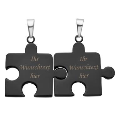 Anhänger Puzzle mit Gravur - 8825