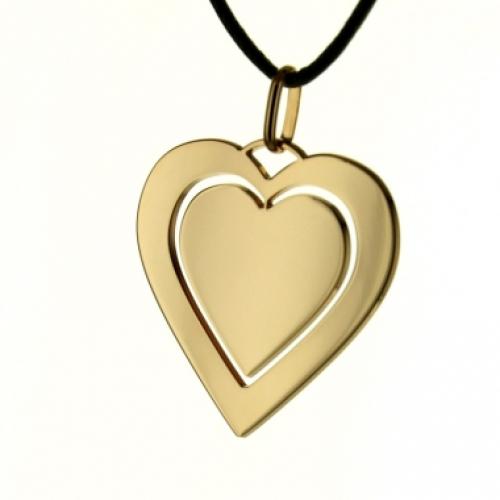 Anhänger Silber Herz vergoldet