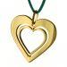 Anhänger Silber Herz - 8714 - vergoldet