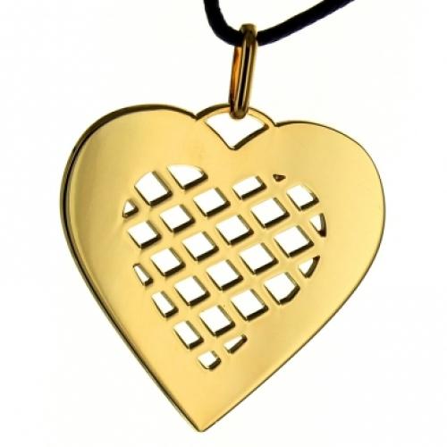 Anhänger Herz vergoldet - 8712