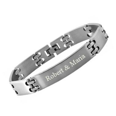 Armband Edelstahl mit Gravur - 8421