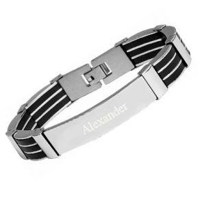 Armband Edelstahl mit Gravur - 8829