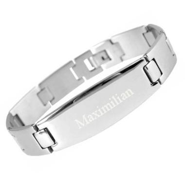 Armband Edelstahl mit Gravur - 8831