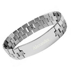 Armband Edelstahl mit Gravur - 9184