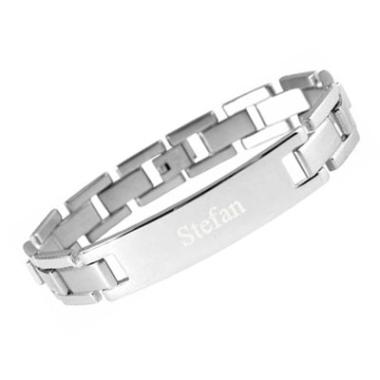 Armband Edelstahl mit Gravur - 8424