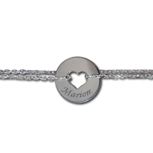 Armband Herz mit Silberkette