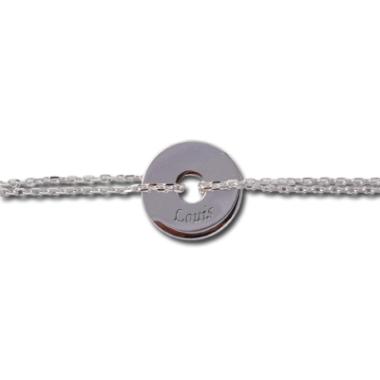 Armband Jeton mit Silberkette