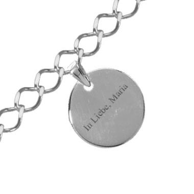 Armband Silber Kreis mit Gravur
