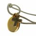Armband Kreis mit Kreuz vergoldet