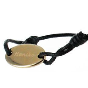 Kinderarmband Oval mit Gravur