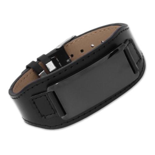 Armband Leder schwarz