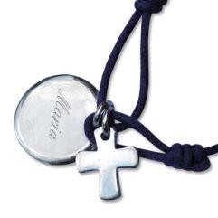 Armband Kreis mit Kreuz