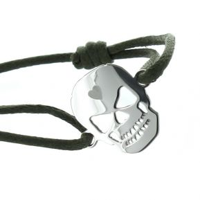 Armband Totenkopf mit Gravur