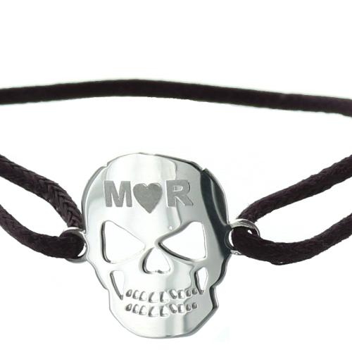 Armband Totenkopf mit Name