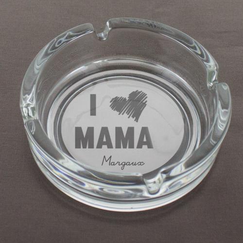 Aschenbecher für Mama mit Gravur Love