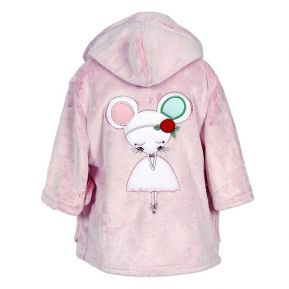 Baby-Morgenmantel kleine Maus mit Stickerei