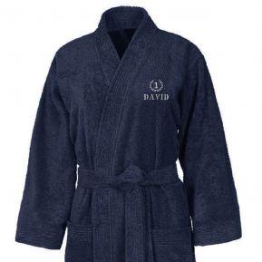 Bestickter Kimono Bademantel
