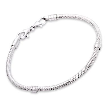 Silber Armband Beads