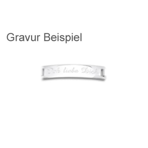 Armband Silber mit Gravur - 8257
