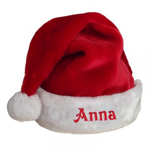 Weihnachtsmütze bestickt