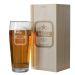 Bierglas Vorname mit Holzkiste
