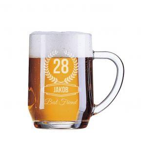 Personalisierter Bierkrug - Geburtstag