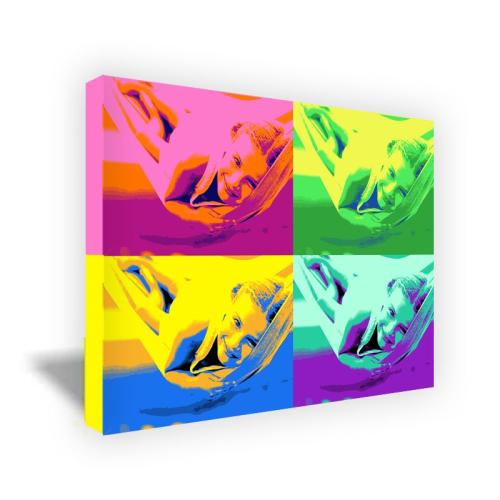Bild Pop Art Rechteck - vier Fotos