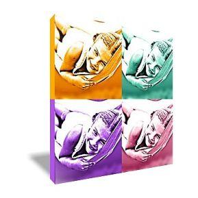 Bild Quadrat einfarbig - vier Fotos