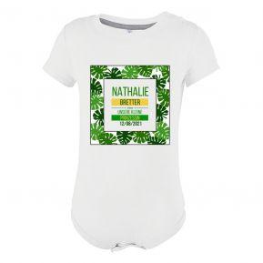 Personalisierter Babybody mit Palmendesign