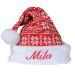 Personalisierbare Weihnachtstricksmütze mit Namen