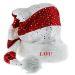 Glitzer-Weihnachtsmütze mit Namen personalisierbar
