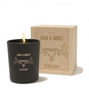 Personalisierte Kerze Valentinstag