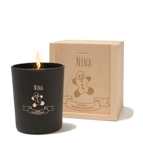 Personalisierte Kerze Weihnachten