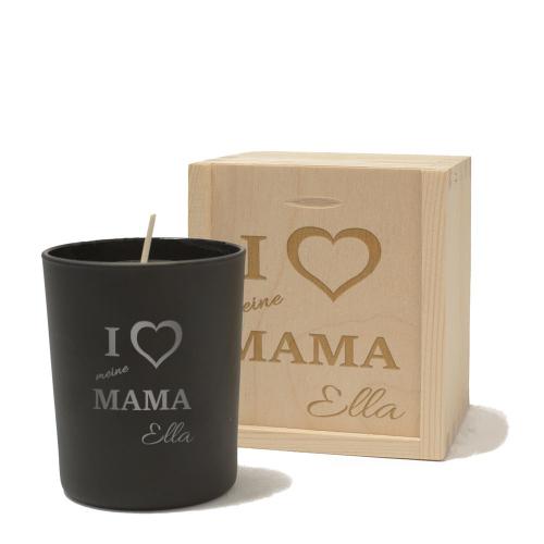 Personalisierte Kerze für Mama