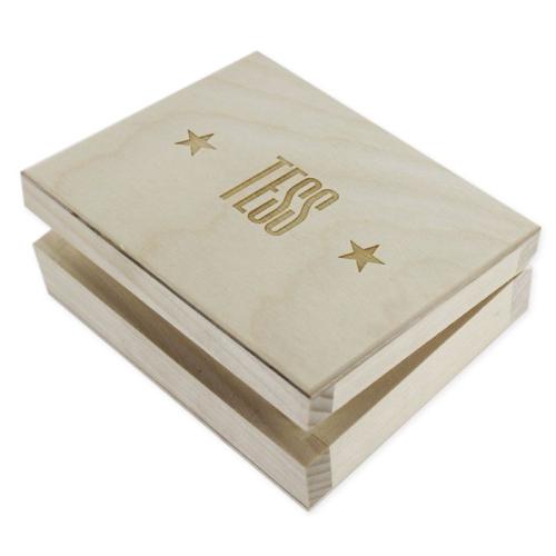 Box für Kartenspiel mit Gravur