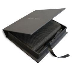 Christian Lacroix Box mit A6 Notizblock und Stift mit Gravur