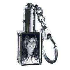 Glas Foto Schlüsselanhänger mit LED