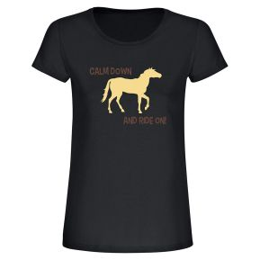 "T-Shirt ""Calm down and ride on"""