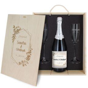 3-teiliges Champagner-Set Hochzeit