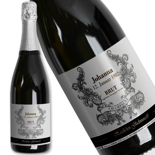 Champagner mit persönlichem Etikett