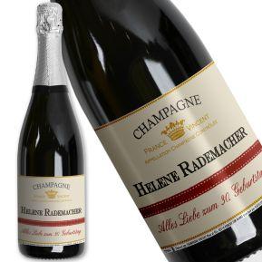 Personalisierte Champagner-Flasche