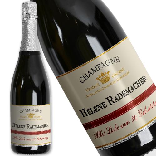 Champagnerflasche mit Personalisierung