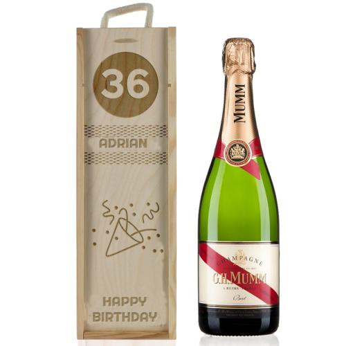 Champagnerkiste zum Geburtstag personalisiert